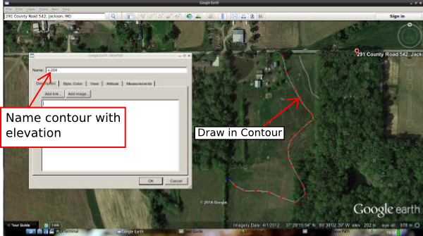 how to draw a path in google earth